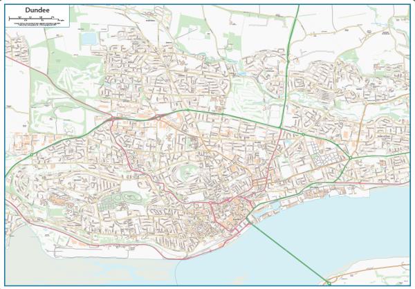 Dundee Street map