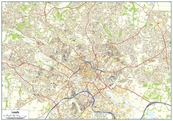 Leeds Street map