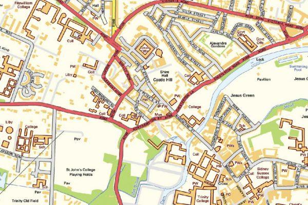 Cambridge Street map