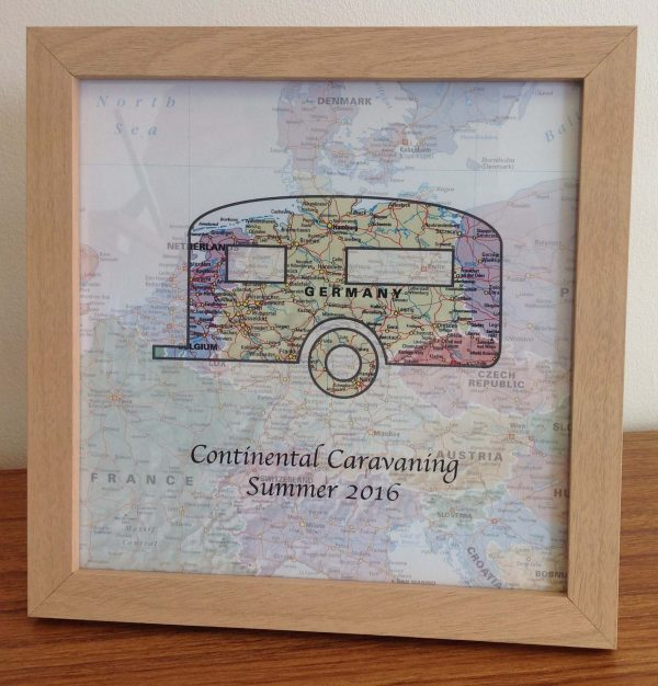 Personalised map - European Travels (free delivery)