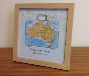 Personalised map gift - world travels (free delivery)