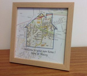 Personalised Good Luck map gift