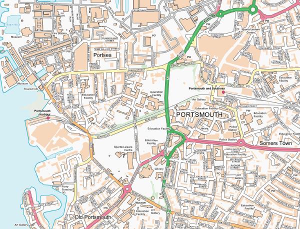 Portsmouth Street map