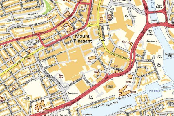 Swansea Street map