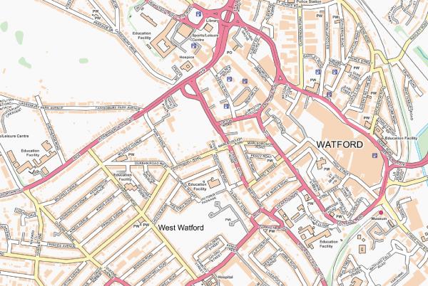 Watford Street map