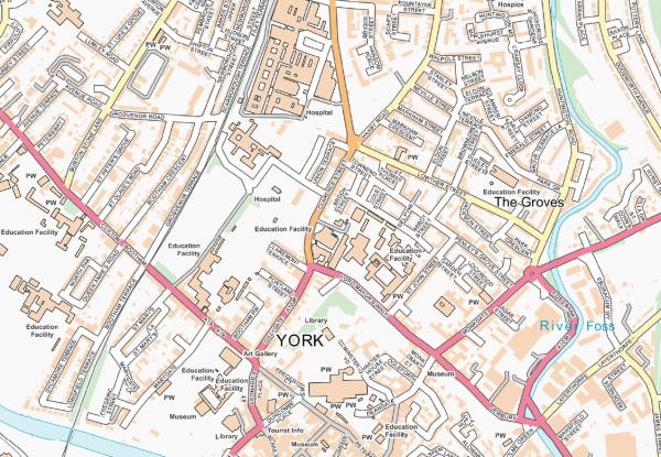 York Street map