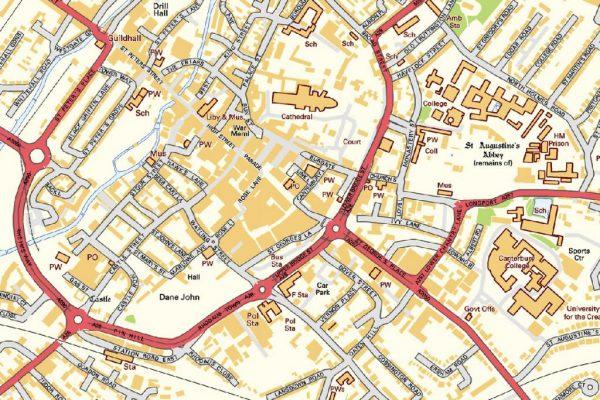 Canterbury Street map