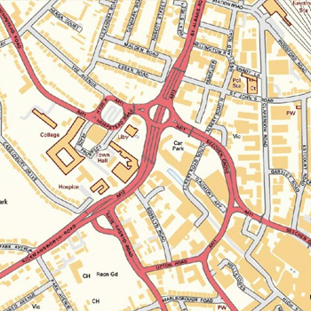 Location centred maps