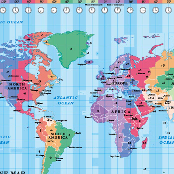 World Time Zone maps