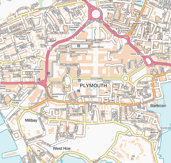 UK town street wall maps
