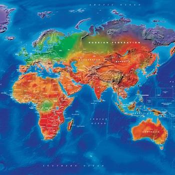 Decor wall maps