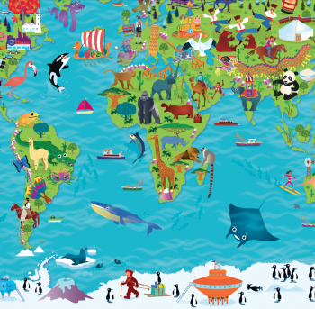 Children's illustrated maps