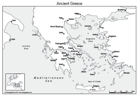Ancient Greece map and Ancient Egypt (set of 3)