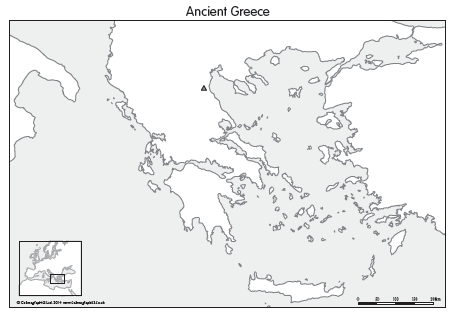 Ancient Greece map (set of 4)