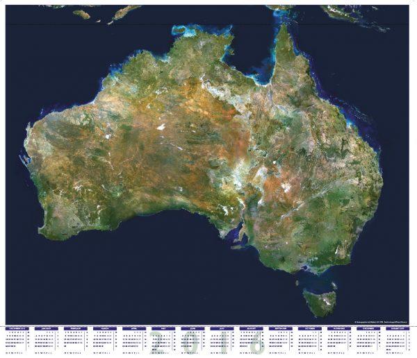Australia satellite calendar 2016