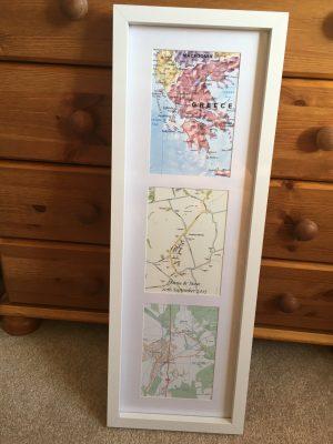 Bespoke personalised map gifts