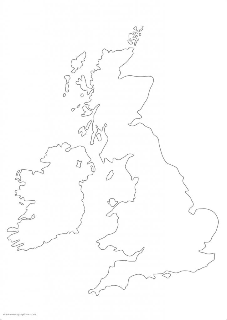 Simplified Big British Isles map outline