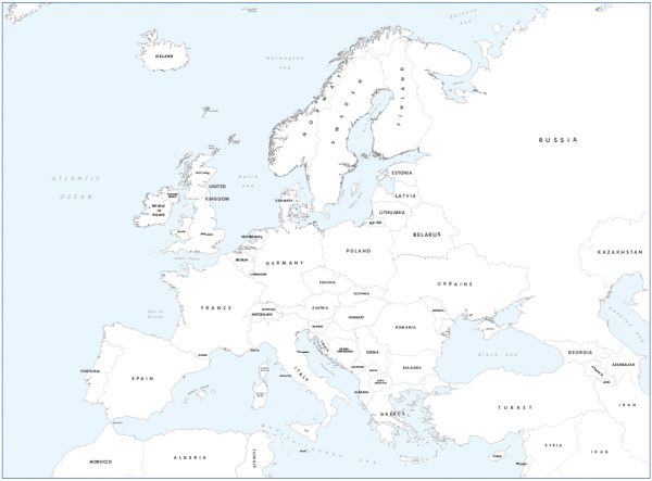Big Europe colouring map