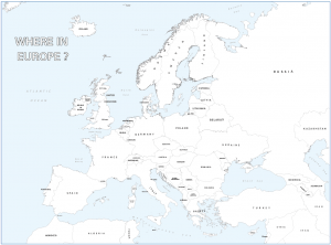Big personalised Europe colouring map