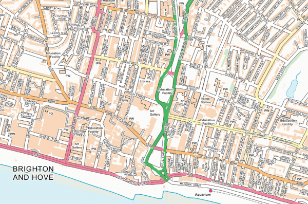 Brighton Street map