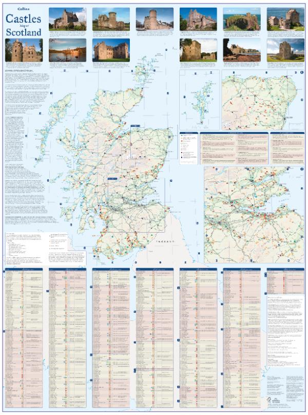Castles map of Scotland