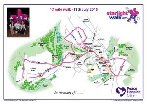 Charity walks, cycle rides, trecks etc