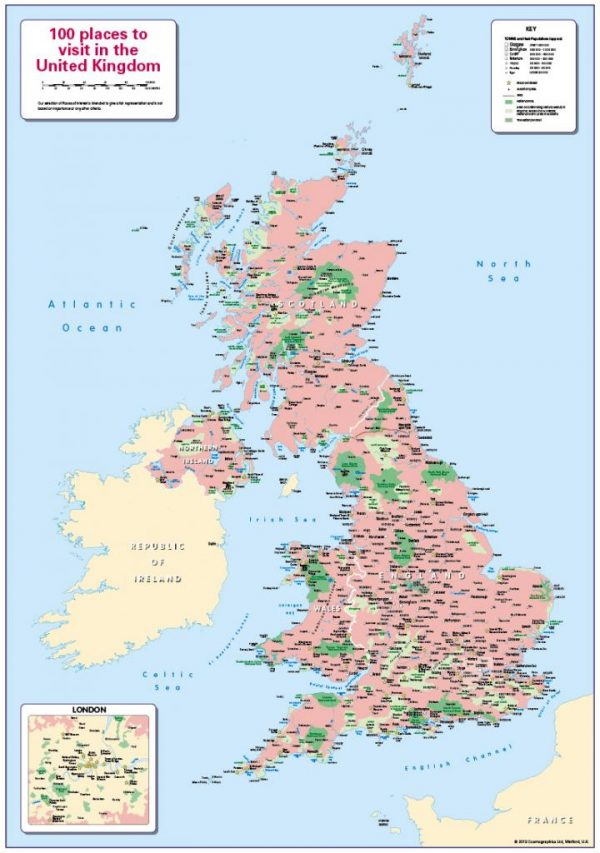 100 places to visit in the United Kingdom