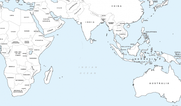 Big personalised world colouring map