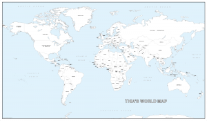 Large personalised world colouring map