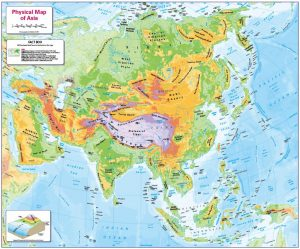 Children's Physical map of Asia