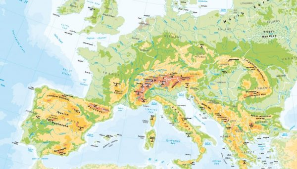 Children's Physical map of Europe