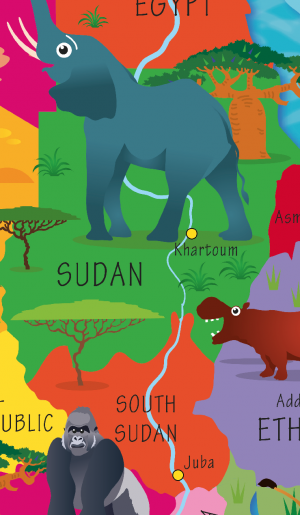 Children's Africa Picture Map