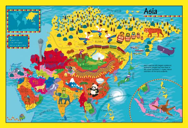 Children's Asia Picture Map