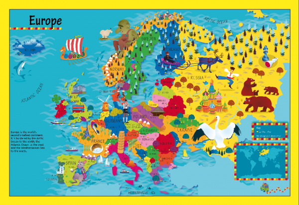 Children's Europe Picture Map