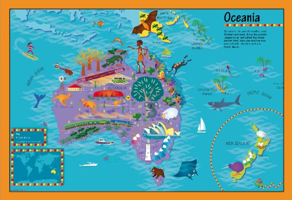Children's Oceania Picture Map