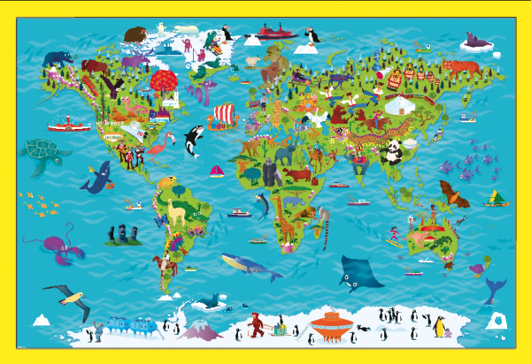 Children's Picture World Map - Large