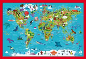 Children's World Picture Maps- set of 3 world maps