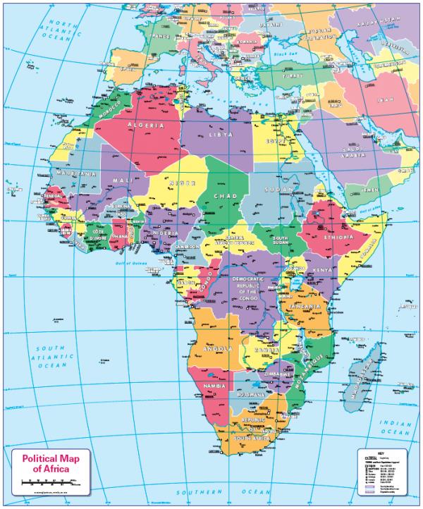 Children's Political map of Africa