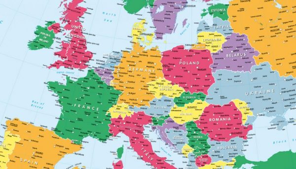 Children's political map of Europe
