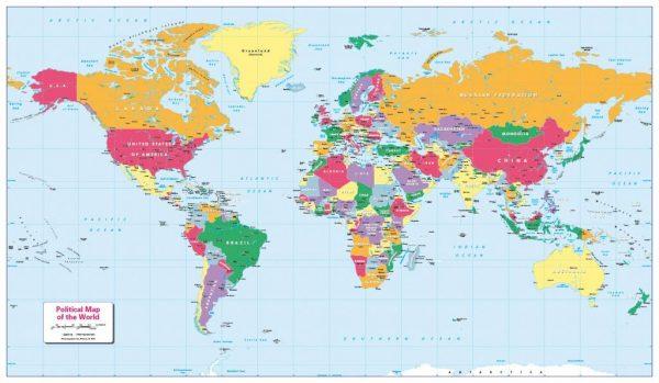 Children's Political World Map (large)