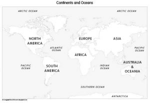 Continents and Oceans (set of 3)