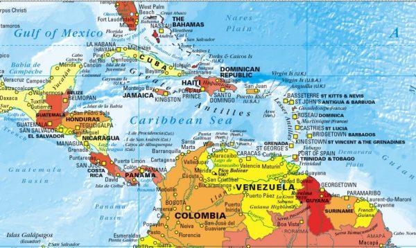 Decor World Map- red, orange and yellow