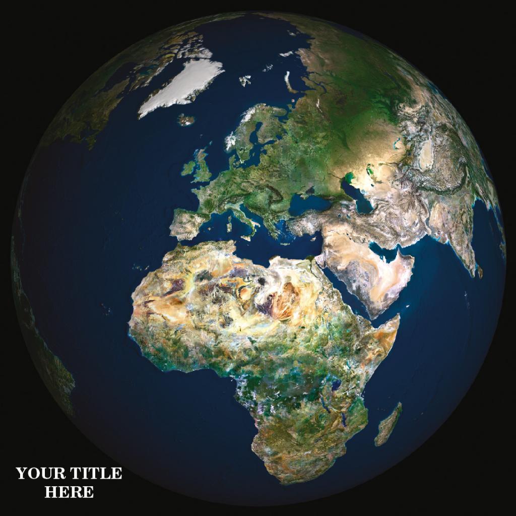 Personalised satellite image of Great Britain