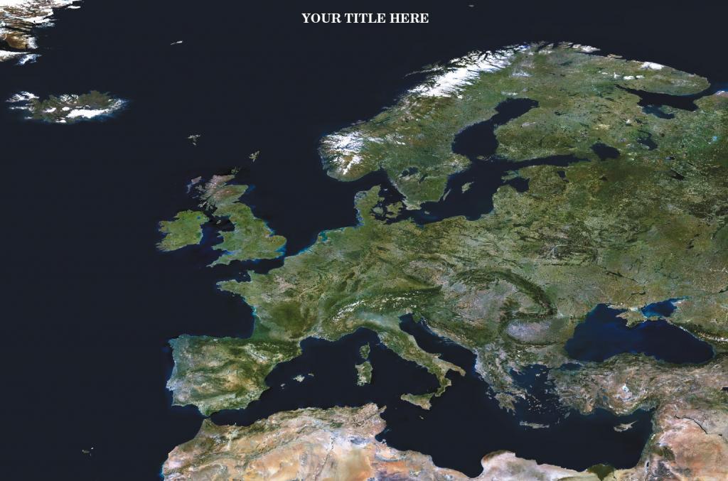 Personalised satellite image of Europe and Africa globe