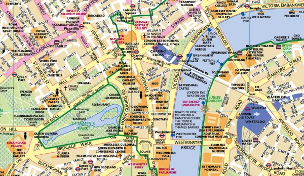Huge London Map Size 2000 x 720mm