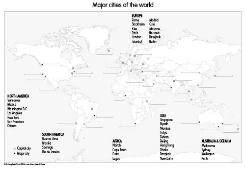Major cities of the World (set of 3)