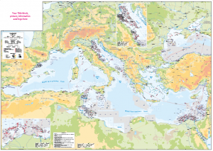 Mediterranean Oil and Gas Activity Map - Personalised