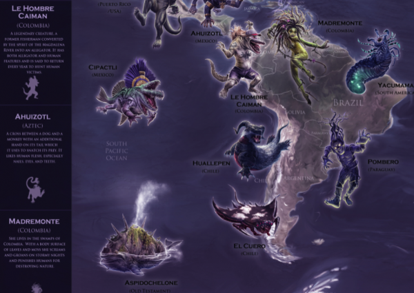 Mythical Monsters map (A1 SIZE) - PREMIUM EDITION