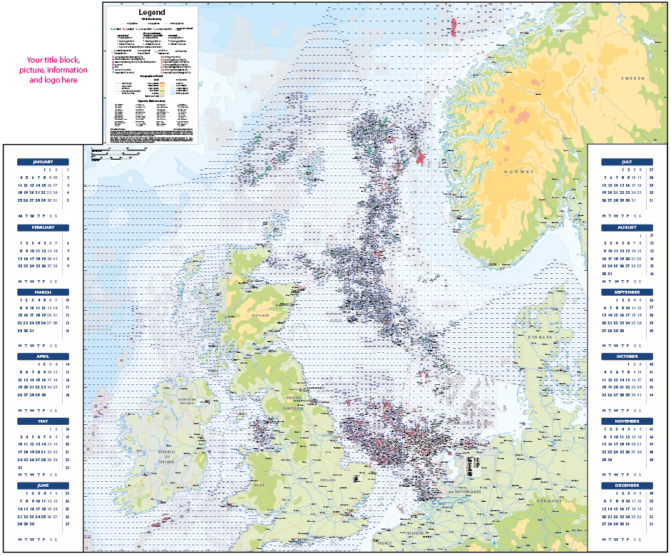 Personalised 2021 North Sea Year Planner