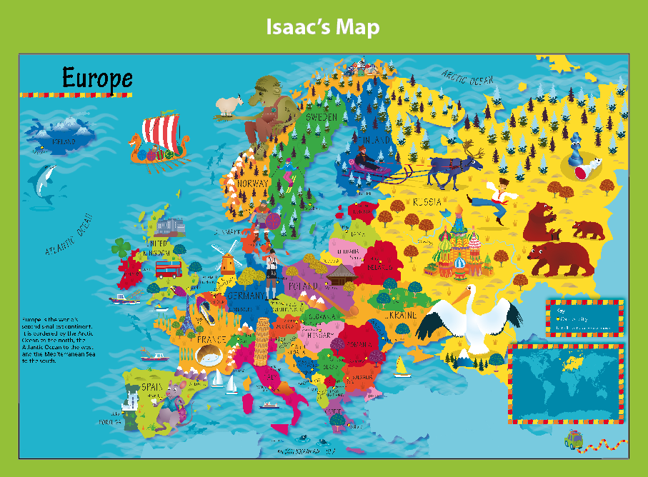 Personalised Children's Picture Europe Map